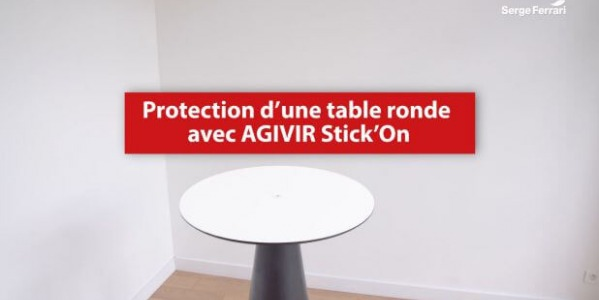 Protect a table with AGIVIR Stick'On