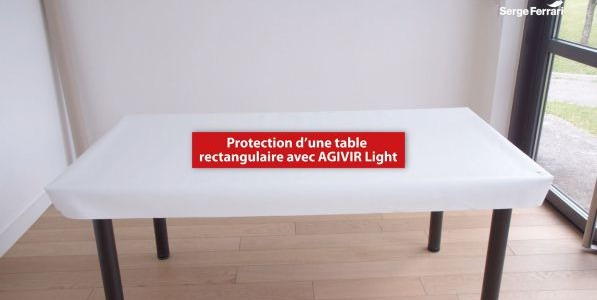 Protect a rectangular table with AGIVIR Light