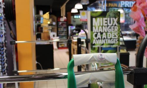 Intermarché supermarket from Saint-Jean de Soudain in Isère (France) protects its customers with AGIVIR